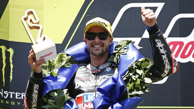 Thomas Lüthi a signé son quatrième podium de la saison à Barcelone [Joan Monfort - Keystone]