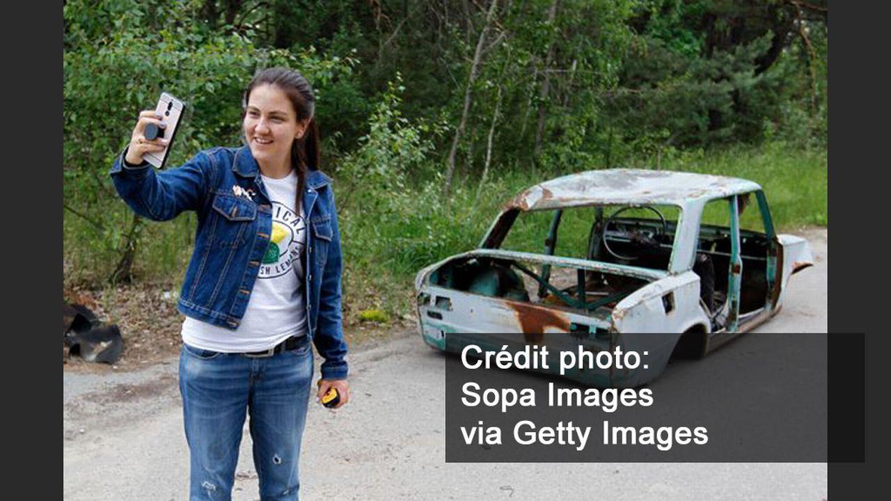 Les photos malaisantes des touristes à Tchernobyl. [Sopa Images via Getty Images]