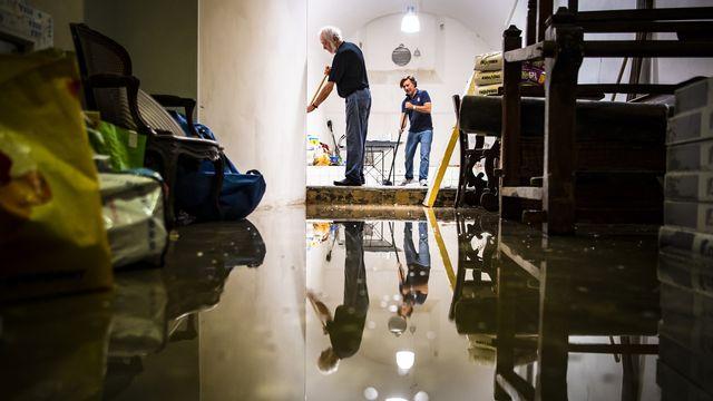 En 2018, les habitants de Lausanne avaient déjà été confrontés à des inondations. [Valentin Flauraud - Keystone]