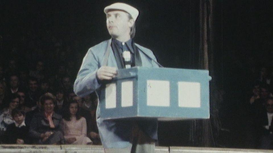 Emil au cirque Knie en 1977. [RTS]