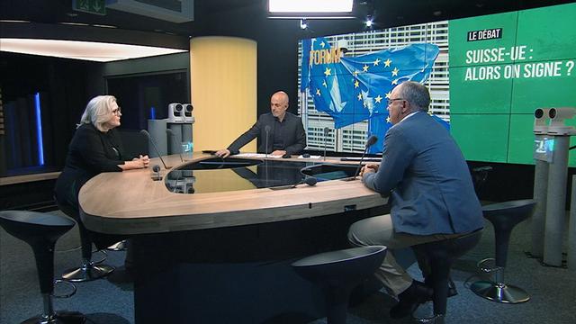 Le débat de Forum sur la Suisse et l'UE. [RTS]