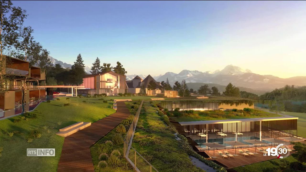 Gros projet immobilier au golf de Pont-la-Ville dans le canton de Fribourg. L'investissement s'élève à 350 millions de francs. [RTS]