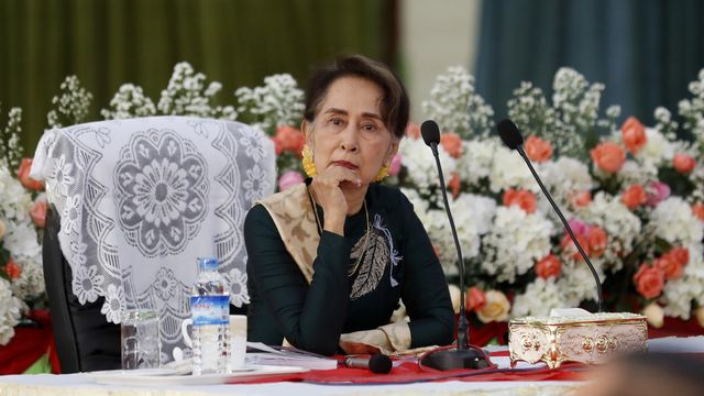 Aung San Suu Kyi, Nobel de la Paix en 1991. [Nyein Chang Naing - Keystone]
