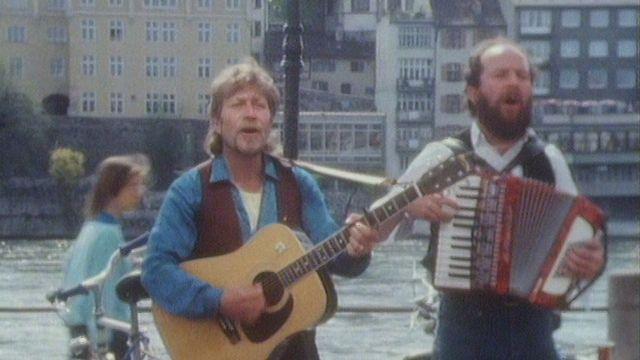 Portrait de deux musiciens de rue [RTS]