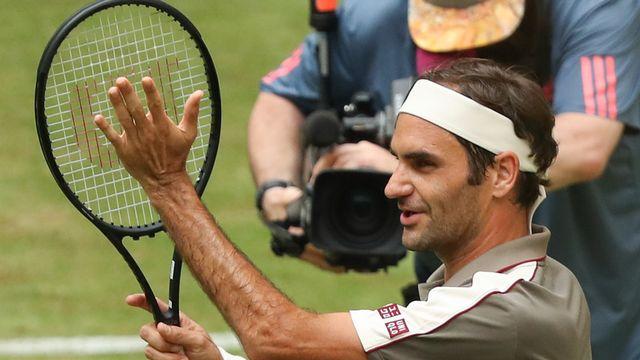 Roger Federer a passé sans encombre le cap du 1er tour. [Friso Gentsch - Keystone]