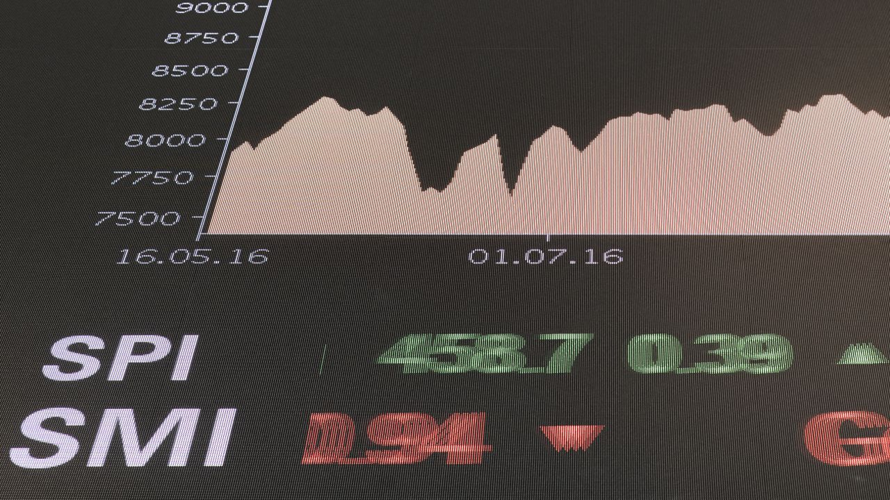 L'indice de référence de la Bourse suisse SMI a franchi le 18 juin 2019 pour la première fois de son histoire la barre symbolique des 10'000 points. [Ennio Leanza - Keystone ]