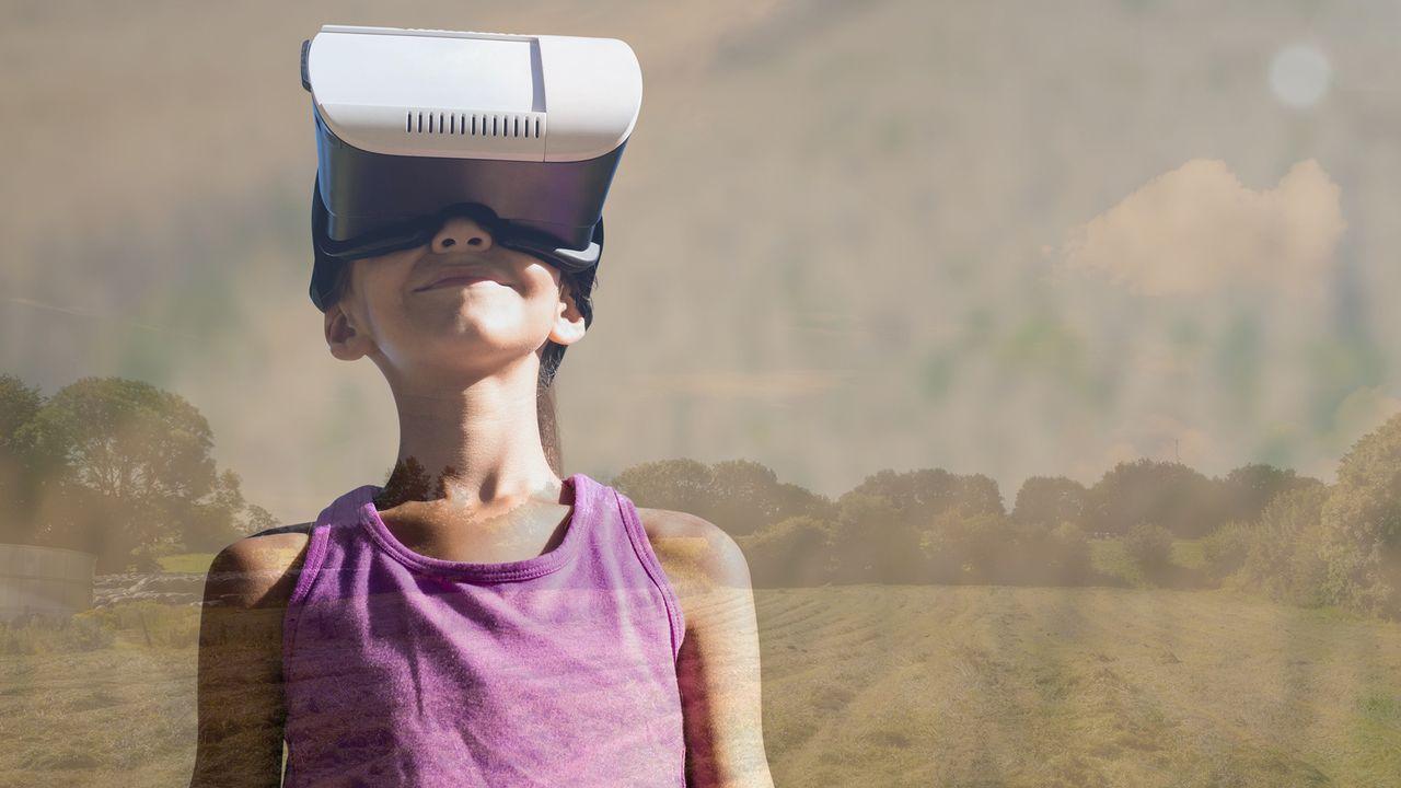 Un casque vissé sur la tête, le patient est plongé dans un paysage bucolique où il peut interagir et construire sa propre réalité. [vectorfusionart - Fotolia]