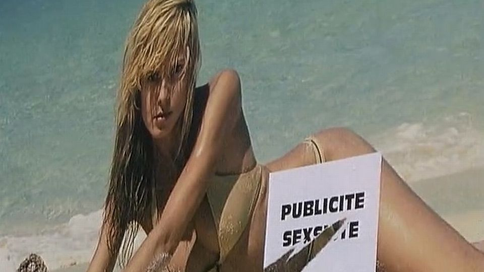 Non aux affiches sexistes. Genève, 2003 [RTS]