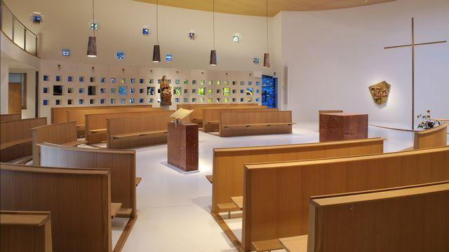 La chapelle de la communauté des Soeurs de Saint-Maurice de la Pelouse à Bex. [Jose Denervaud - lapelouse.ch]