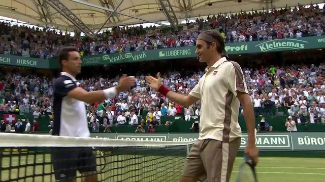 ATP Halle, 1-4, R.Federer (SUI) – R. Bautista Agut (ESP) (6-3, 4-6, 6-4): Federer bataille mais passe en 1-2 [RTS]