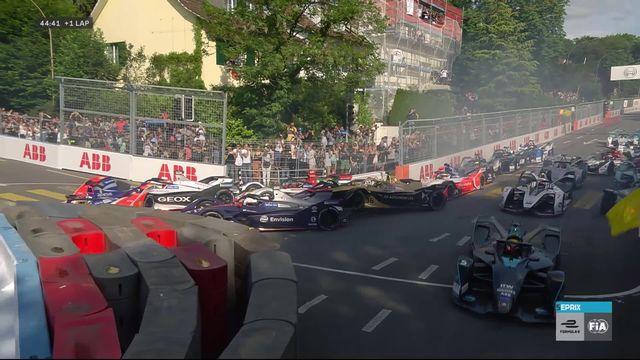 E-Prix de Suisse: Pascal Wehrlein (ALL) part à la faute et interrompt le début de course à Berne [RTS]