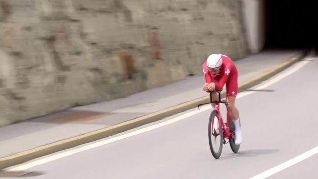 Goms – Goms (SUI), 8e étape: Lampaert (BEL) s'impose dans le contre-la-montre, Bernal (COL) conserve son maillot jaune [RTS]