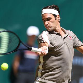 Le gazon allemand fait figure de jardin de Federer. [CARMEN JASPERSEN  - AFP]