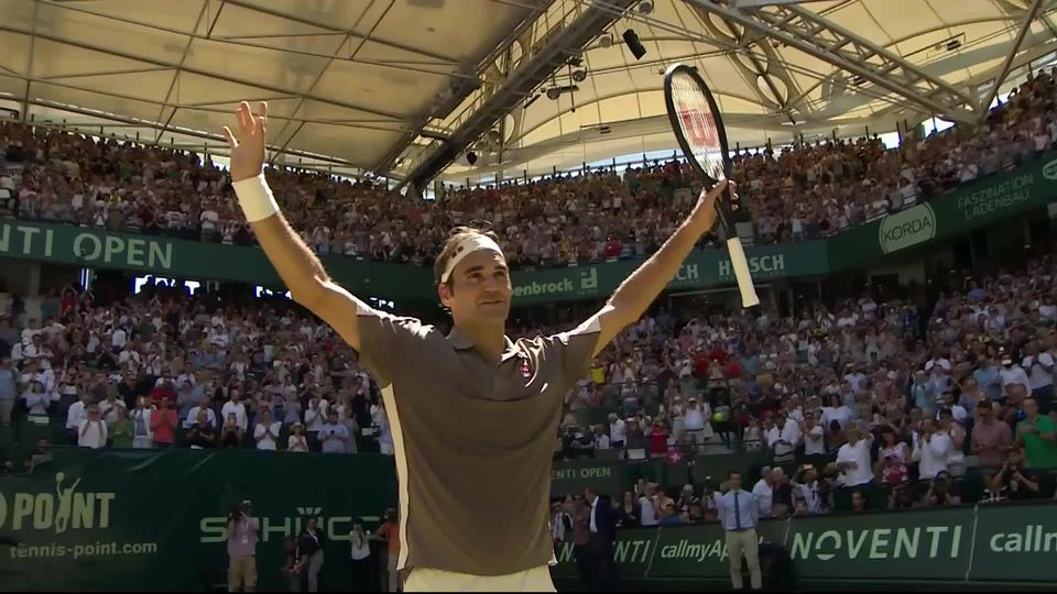 Finale, R. Federer (SUI) - D. Goffin (BEL) (7-6, 6-2): les meilleurs moments du 102e titre ATP de Roger Federer [RTS]