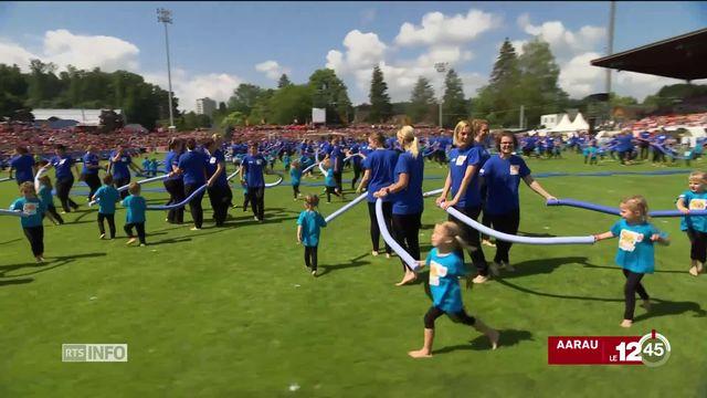 la cérémonie de clôture de la 76e fête de la gymnastique a eu lieu à Aarau [RTS]