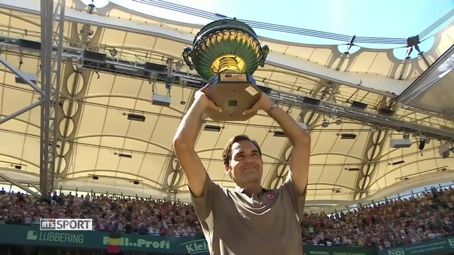 Tennis, ATP Halle : victoire de Roger Federer [RTS]