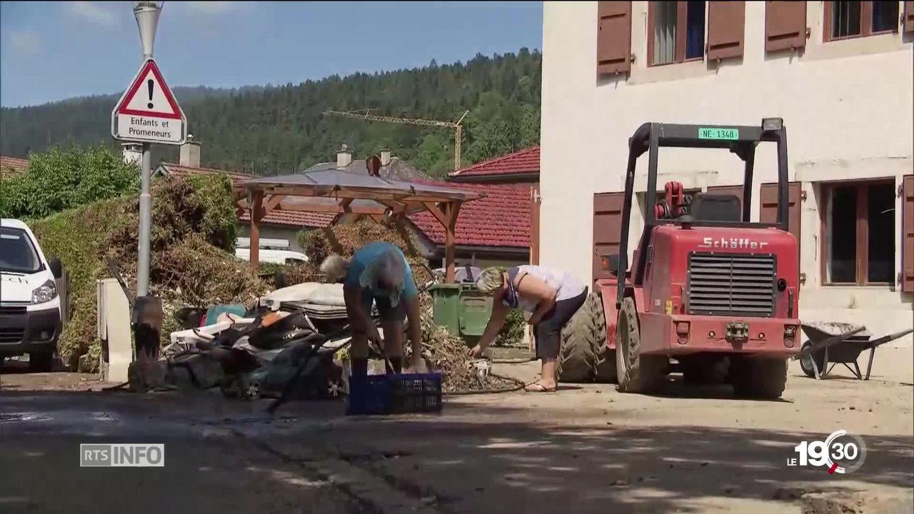 Au lendemain de l'orage violent qui a frappé le Val-de-Ruz, l'heure est au bilan et à la solidarité [RTS]