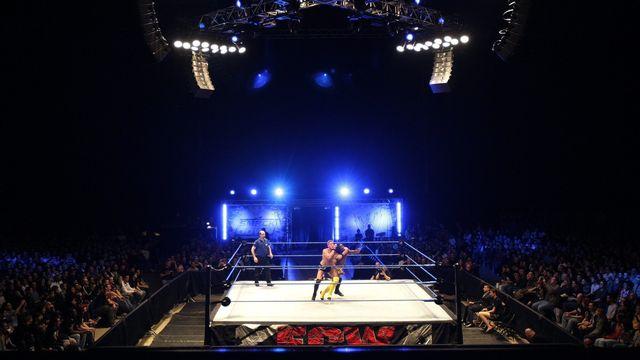 Un match organisé par le WWE Smackdown à Genève en 2008. [Martial Trezzini - Keystone]