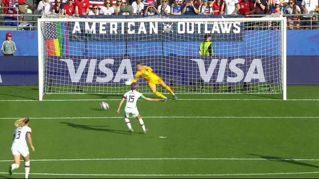 1-8e, Espagne – Etats-Unis (1-2): Rapinoe envoie les Etats-Unis en 1-4 de finale [RTS]