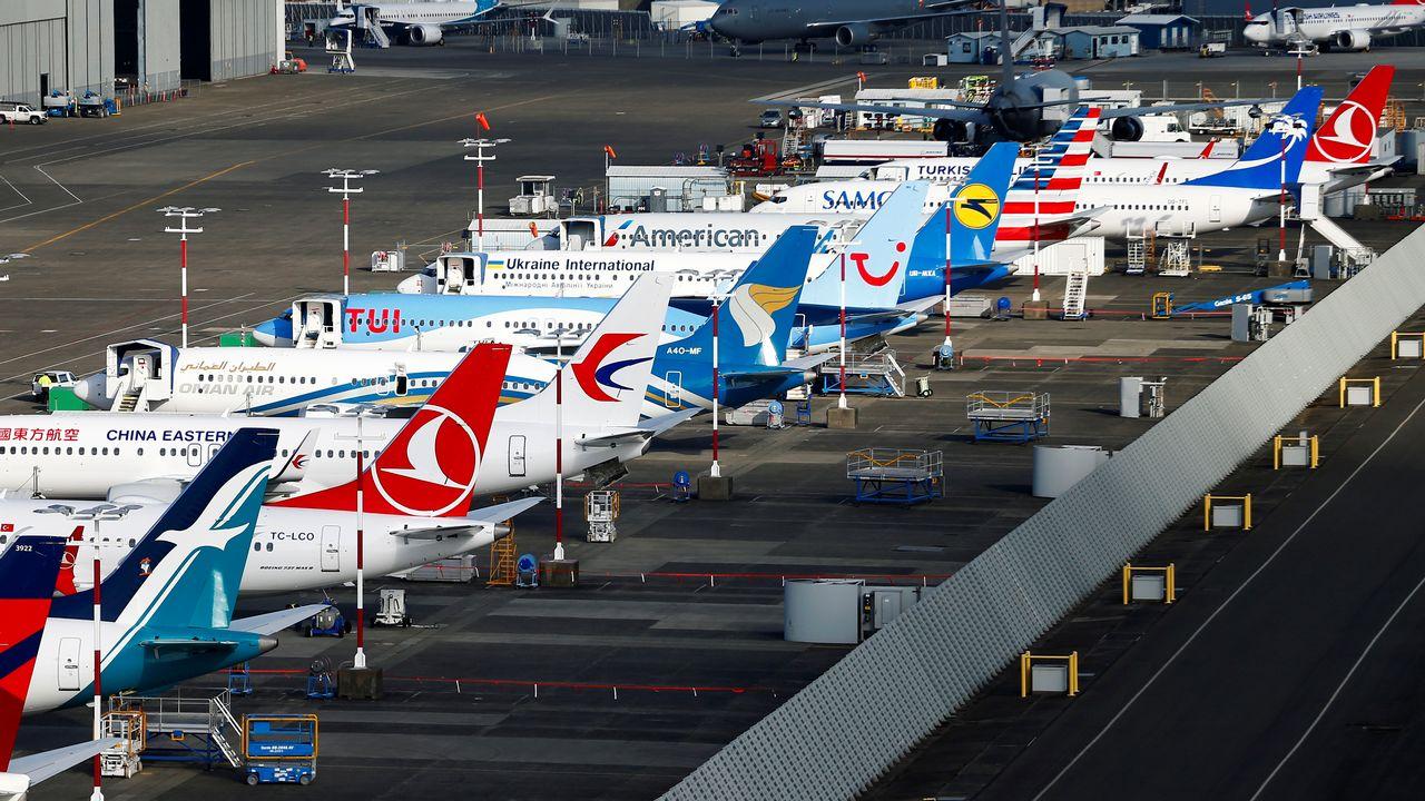 """Le retour rapide dans le ciel du Boeing 737 MAX assombri avec la découverte d'une faille """"potentielle"""" par les Etats-Unis. [Lindsey Wasson - Reuters]"""