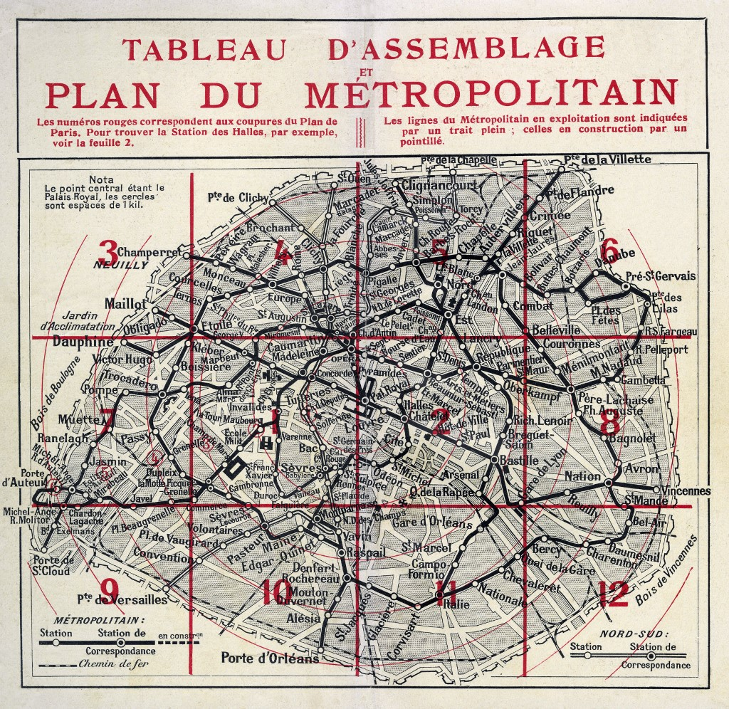 Plan du métro de Paris (1920)