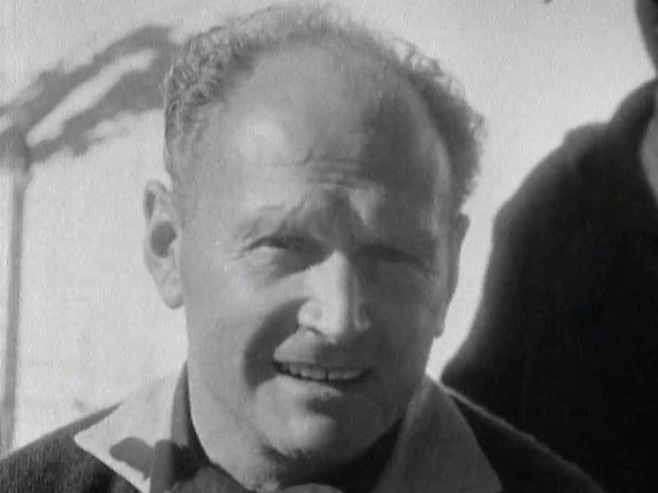L'alpiniste autrichien Heinrich Harrer en 1961. [RTS]
