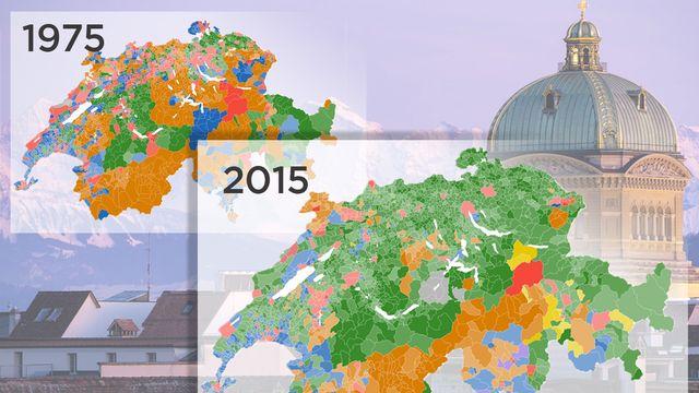 La carte interactive des élections depuis 1975 [RTS]