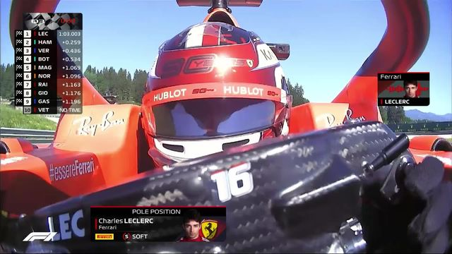 GP d'Autriche (#9), Q3: Leclerc (MON) prend la pole devant Hamilton (GBR) 2e et Verstappen (NED) 3e [RTS]