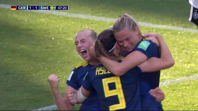 1-4, Allemagne - Suède (1-2): les meilleurs actions et goals de la qualification suédoise [RTS]