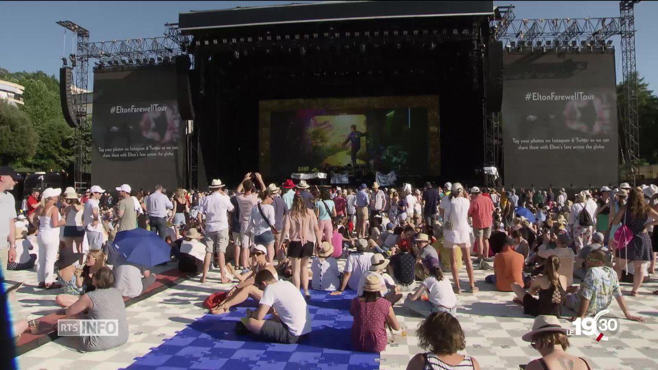 Montreux Jazz, le concert d'Elton John a attiré 15'000 festivaliers, hier soir. [RTS]