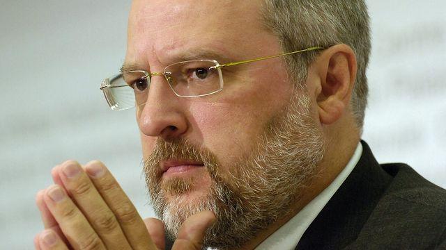 """Alexandre Fasel, ambassadeur suisse basé à Londres et organisateur de la """"classe verte"""" des conseillers fribourgeois. [Lukas Lehmann - Keystone]"""