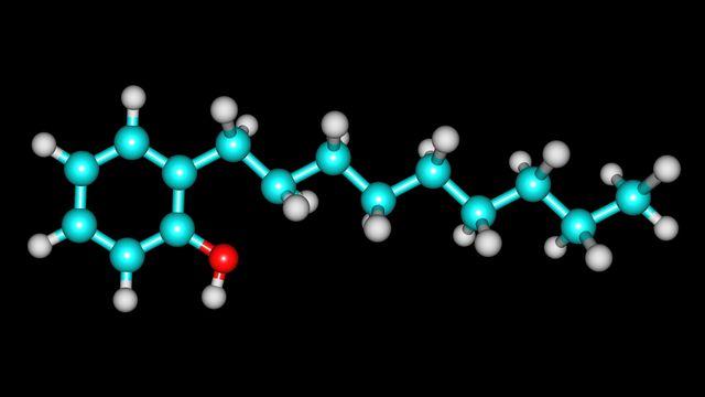 Structure moléculaire de nonylphénol. olla.davies Depositphotos [olla.davies - Depositphotos]