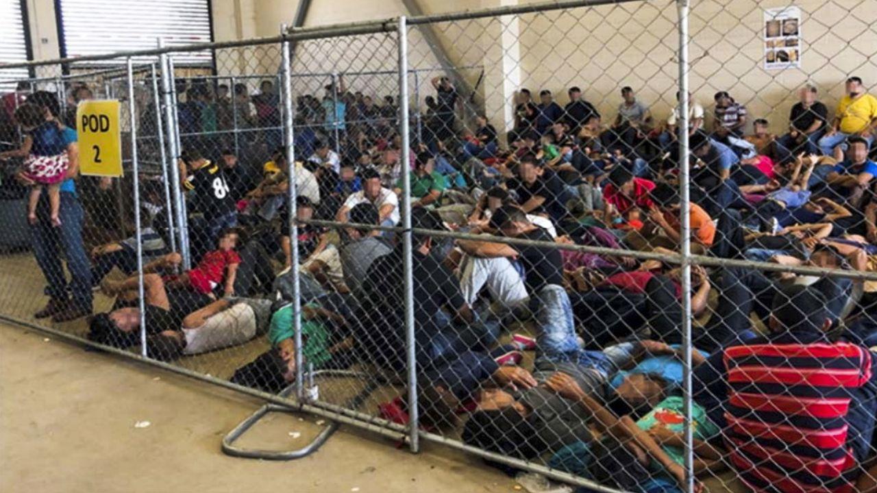 Une image de l'Inspection générale du ministère américain de la Sécurité intérieure. démontrant la surpopulation dans des centres de rétention de migrants clandestins au Texas. [OFFICE OF INSPECTOR GENERAL - Keystone]