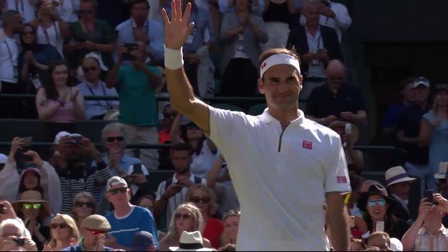 2e tour, J. Clarke (GBR) - R. Federer (SUI) (1-6, 6-7, 2-6): le Bâlois gagne facilement en 3 manches [RTS]