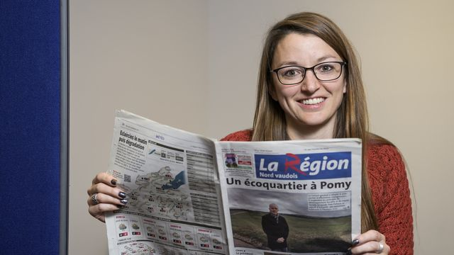 """Sur fond de polémique, le journal """"La Région"""" perd sa rédactrice en chef. [Jean-Christophe Bott - Keystone]"""