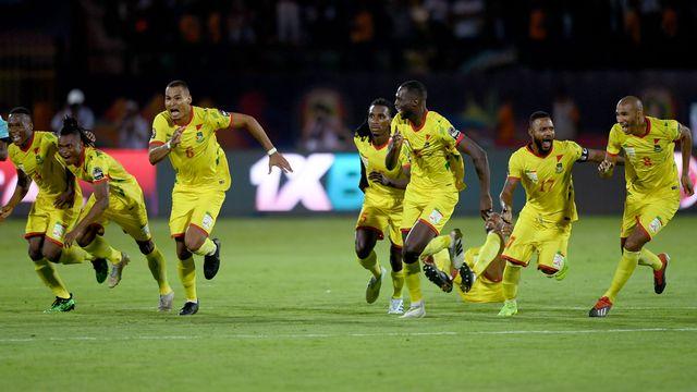 Les Béninois exultent après leur succès aux penalties. [Ozan Kose - AFP]