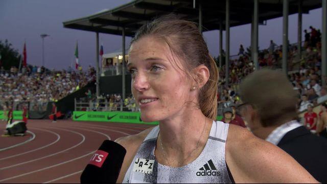 Lausanne (SUI), 400m haies dames: Léa Sprunger (SUI) donne son ressenti au micro de Pierre Poullier [RTS]