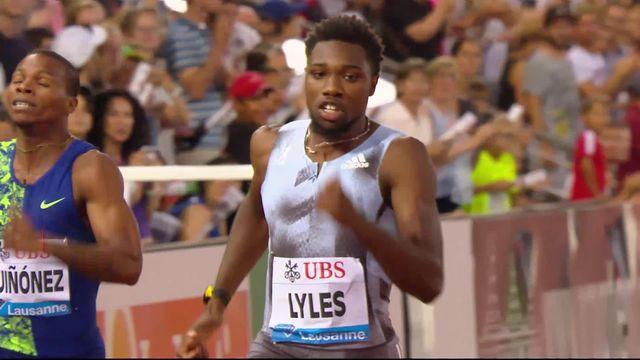 Lausanne (SUI), 200m messieurs: Lyles (USA) s'impose et bat le record du meeting, Wilson (SUI) 6e [RTS]