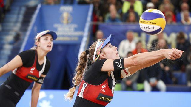 Hüberli-Betschart ont failli devenir les premières Suissesses médaillées dans des Mondiaux. [Christian Charisius - Keystone]