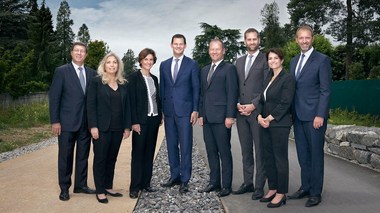 La photo officielle du Conseil d'Etat de Genève, législature 2018-2023. [Vincent Calmel - www.ge.ch]