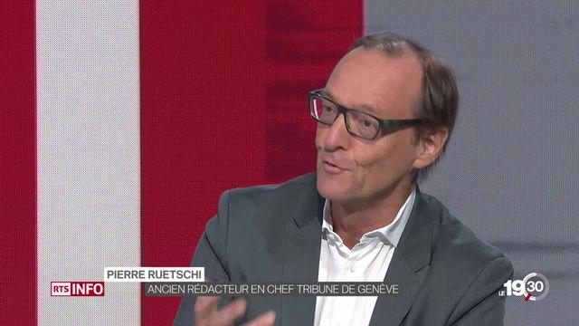 """Pierre Ruetschi: """"Cet argent public, c'est un moyen de pression. Ces petits titres sont très dépendants de cette publicité."""" [RTS]"""