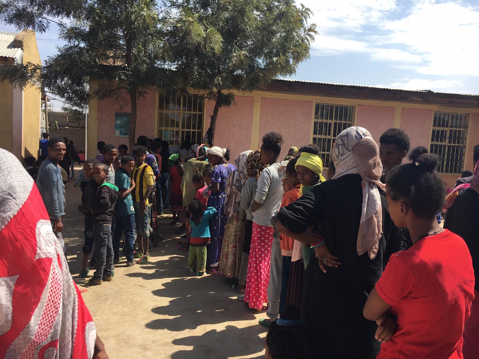 Camp de réfugiés à Mekele.