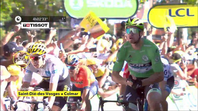 4e étape, Saint-Dié-des-Vosges – Colmar: Peter Sagan (SVK) s'offre son premier sprint de l'édition 2019 [RTS]