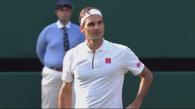 1-4, K. Nishikori (JPN) - R. Federer (SUI) (6-4, 1-6, 4-6, 4-6): Federer signe une 100ème victoire à Wimbledon! [RTS]