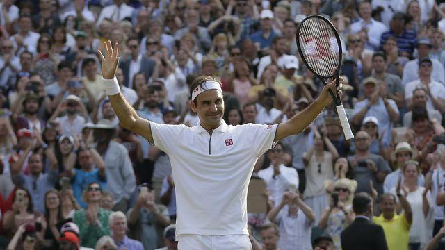 Federer est en quête à Wimbledon d'un 21e titre du Grand Chelem. [Tim Ireland - Keystone]