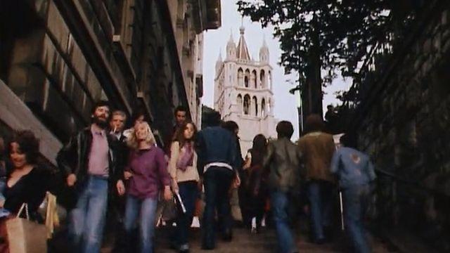 Ambiance de la Fête de la Cité en 1978. [RTS]