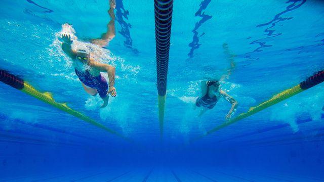Jeudi 19 juillet: les championnats allemands de natation se disputent à Berlin. [Klaus-Dietmar Gabbert - Keystone]