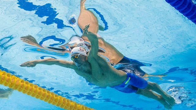 Le nageur genevois Jérémy Desplanches. [Patrick B. Kraemer - Keystone]