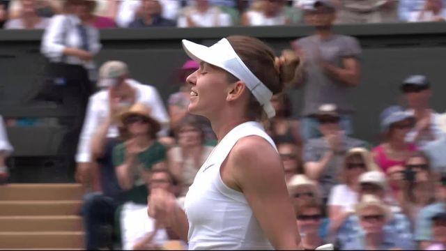 1-2 finale, E. Svitolina (UKR) – S. Halep (ROU) (1-6, 3-6): Halep se qualifie pour sa première finale à Wimbledon [RTS]