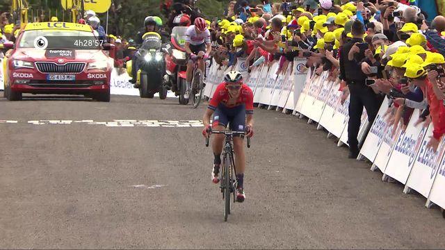 6e étape, Mulhouse – La Planche des Belles Filles: Dylan Teuns (BEL) s'impose devant Giulio Ciccone (ITA) qui s'emparre du maillot jaune [RTS]